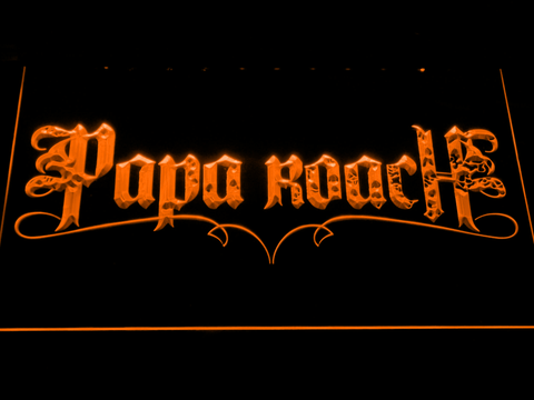 Image of Papa Roach LED Neon Sign - Orange - SafeSpecial