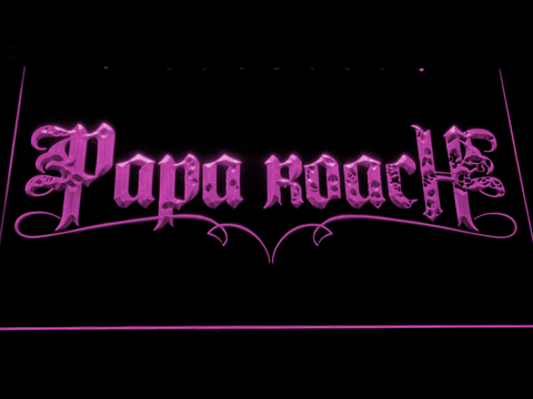 Image of Papa Roach LED Neon Sign - Purple - SafeSpecial