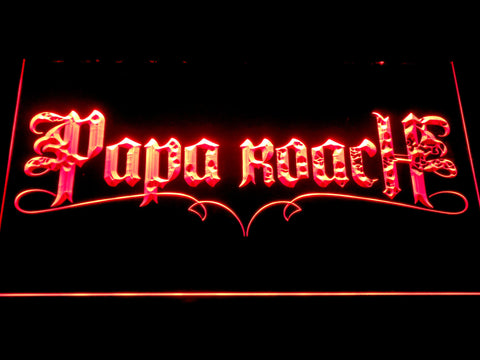 Image of Papa Roach LED Neon Sign - Red - SafeSpecial
