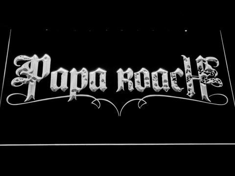 Image of Papa Roach LED Neon Sign - White - SafeSpecial