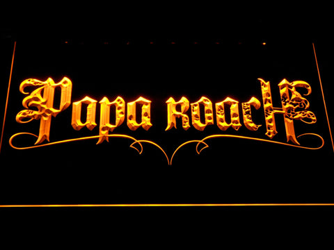 Image of Papa Roach LED Neon Sign - Yellow - SafeSpecial
