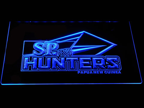 Image of Papua New Guinea Hunters LED Neon Sign - Blue - SafeSpecial