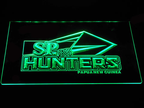 Image of Papua New Guinea Hunters LED Neon Sign - Green - SafeSpecial