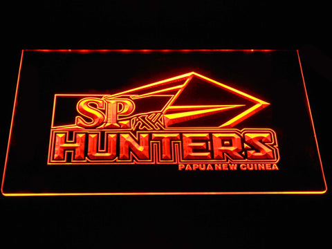 Papua New Guinea Hunters LED Neon Sign - Orange - SafeSpecial