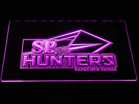 Papua New Guinea Hunters LED Neon Sign - Purple - SafeSpecial