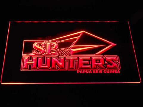 Image of Papua New Guinea Hunters LED Neon Sign - Red - SafeSpecial