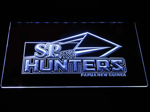 Image of Papua New Guinea Hunters LED Neon Sign - White - SafeSpecial