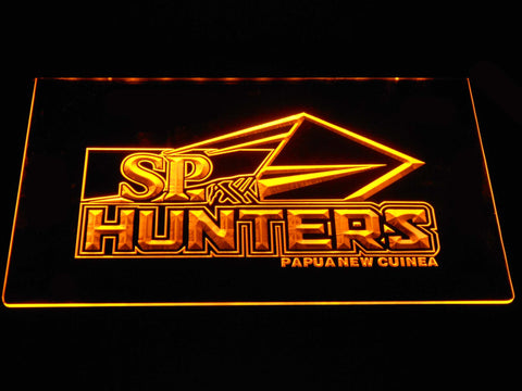 Image of Papua New Guinea Hunters LED Neon Sign - Yellow - SafeSpecial