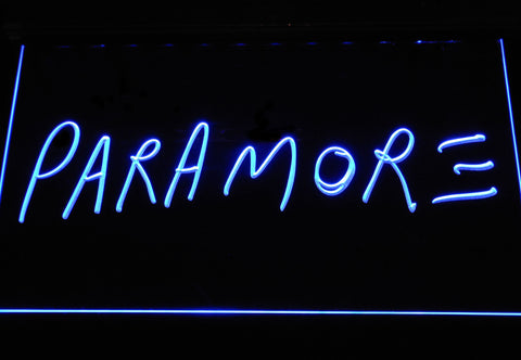 Image of Paramore LED Neon Sign - Blue - SafeSpecial