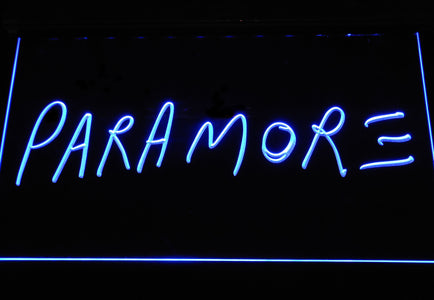 Paramore LED Neon Sign - Blue - SafeSpecial
