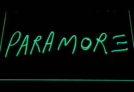 Paramore LED Neon Sign - Green - SafeSpecial