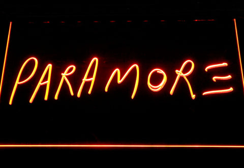 Image of Paramore LED Neon Sign - Orange - SafeSpecial