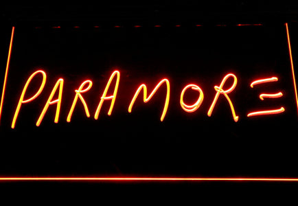 Paramore LED Neon Sign - Orange - SafeSpecial