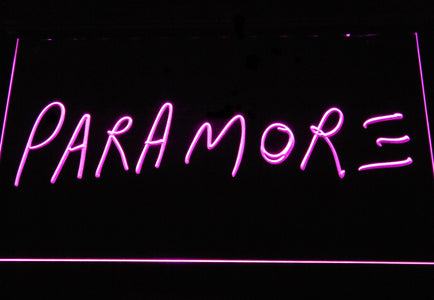 Paramore LED Neon Sign - Purple - SafeSpecial