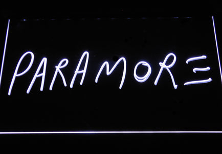 Paramore LED Neon Sign - White - SafeSpecial
