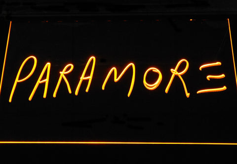 Image of Paramore LED Neon Sign - Yellow - SafeSpecial