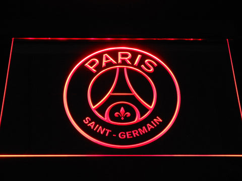 Image of Paris Saint-Germain FC Crest LED Neon Sign - Red - SafeSpecial
