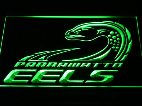 Parramatta Eels LED Neon Sign - Legacy Edition - Green - SafeSpecial