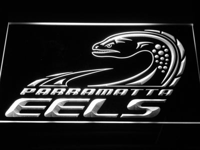 Parramatta Eels LED Neon Sign - Legacy Edition - White - SafeSpecial