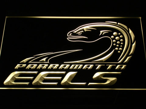 Image of Parramatta Eels LED Neon Sign - Legacy Edition - Yellow - SafeSpecial