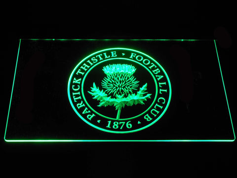 Image of Partick Thistle F.C. LED Neon Sign - Green - SafeSpecial