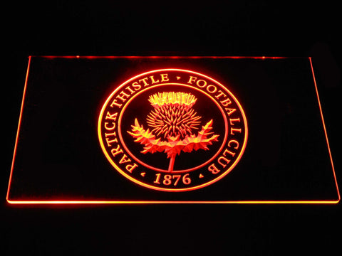 Image of Partick Thistle F.C. LED Neon Sign - Orange - SafeSpecial