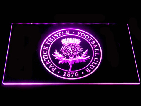 Image of Partick Thistle F.C. LED Neon Sign - Purple - SafeSpecial
