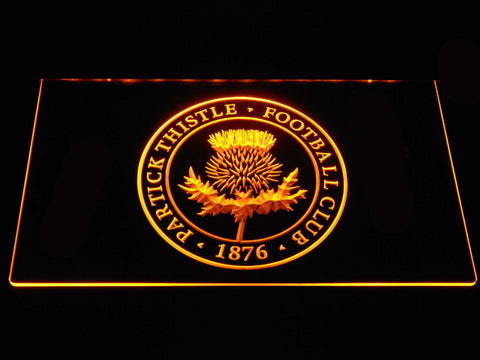 Image of Partick Thistle F.C. LED Neon Sign - Yellow - SafeSpecial
