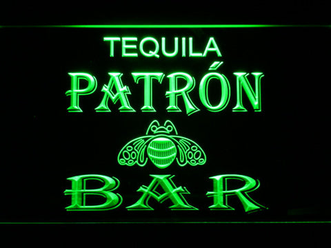 Patron Bar LED Neon Sign - Green - SafeSpecial