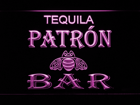 Patron Bar LED Neon Sign - Purple - SafeSpecial