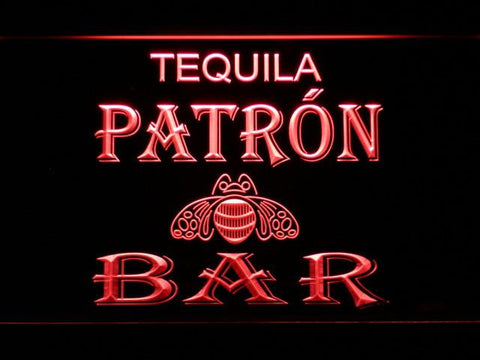 Patron Bar LED Neon Sign - Red - SafeSpecial