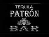 Patron Bar LED Neon Sign - White - SafeSpecial