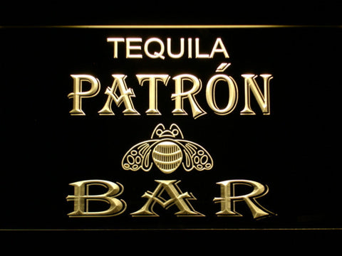 Patron Bar LED Neon Sign - Yellow - SafeSpecial