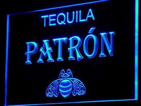 Image of Patron LED Neon Sign - Blue - SafeSpecial