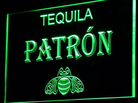 Image of Patron LED Neon Sign - Green - SafeSpecial