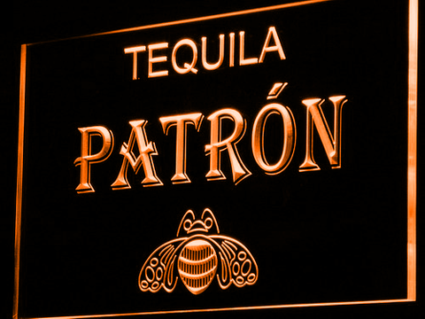Image of Patron LED Neon Sign - Orange - SafeSpecial