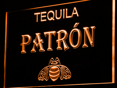 Patron LED Neon Sign - Orange - SafeSpecial