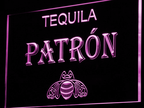 Image of Patron LED Neon Sign - Purple - SafeSpecial