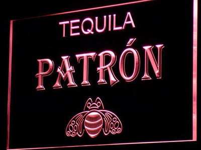 Patron LED Neon Sign - Red - SafeSpecial
