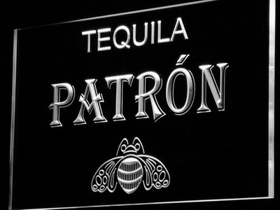 Patron LED Neon Sign - White - SafeSpecial