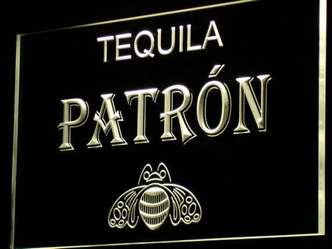 Image of Patron LED Neon Sign - Yellow - SafeSpecial