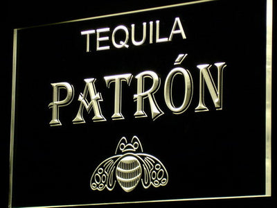 Patron LED Neon Sign - Yellow - SafeSpecial