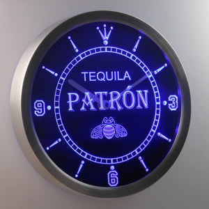 Patron LED Neon Wall Clock - Blue - SafeSpecial
