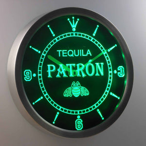 Patron LED Neon Wall Clock - Green - SafeSpecial