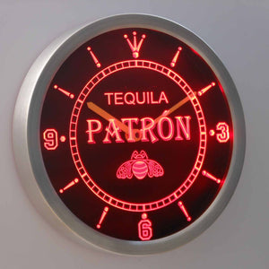 Patron LED Neon Wall Clock - Red - SafeSpecial