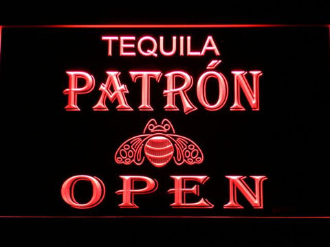 Image of Patron Open LED Neon Sign - Red - SafeSpecial