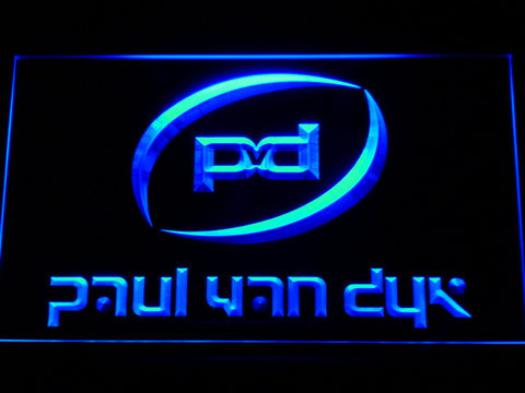 Image of Paul Van Dyk LED Neon Sign - Blue - SafeSpecial