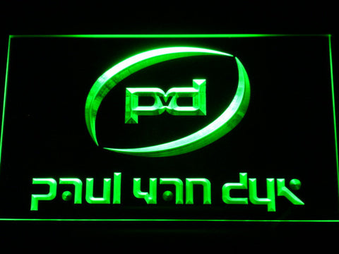 Image of Paul Van Dyk LED Neon Sign - Green - SafeSpecial