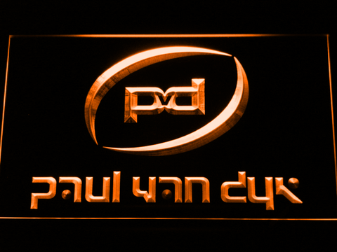 Image of Paul Van Dyk LED Neon Sign - Orange - SafeSpecial