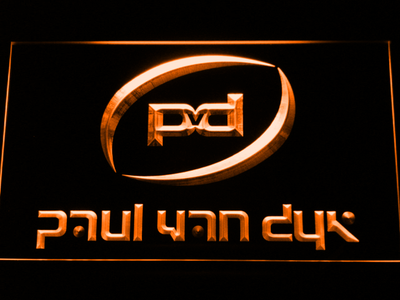 Paul Van Dyk LED Neon Sign - Orange - SafeSpecial